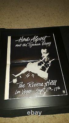 Herb Alpert And Tijuana Brass Rare Las Vegas Concert Promo Poster Ad Framed