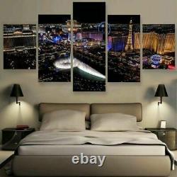 Home Decor Las Vegas Modern Cityscape Canvas Prints Painting Wall Art Poster 5PC