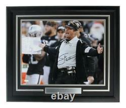 Jon Gruden Las Vegas Raiders Signed/Autographed 16x20 Photo Framed JSA 158805