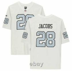 Josh Jacobs Las Vegas Raiders Signed White Alternate Nike Game Jersey