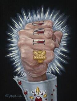 King Fist by Anthony Velasquez Elvis Knuckle Las Vegas Tattoo Canvas Art Print