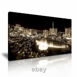 LAS VEGAS STRIP USA Skyline Canvas Framed Print More Size