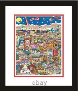 LAS VEGAS by AL SCHREIBER 3-D ARTWORK HAND SIGNED &NUMBERED-FRAMED