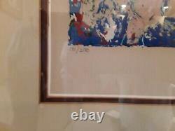 LEROY NEIMAN. LAS VEGAS BLACKJACK. Beautiful. Framed