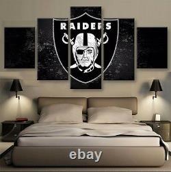 Large Framed Las Vegas Raiders Football Canvas Print Home Decor Wall Art