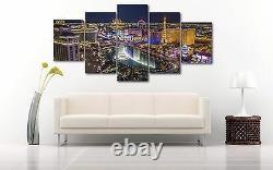 Large Size Las Vegas Five Piece Canvas Print Wall Decor