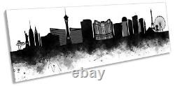 Las Vegas Abstract City Skyline Picture PANORAMA CANVAS WALL ART Print Black