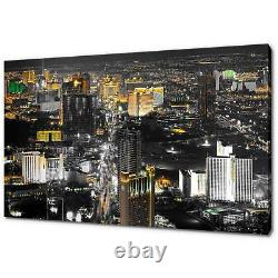 Las Vegas At Night Canvas Print Picture Wall Art Free Fast Delivery