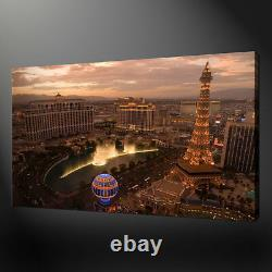 Las Vegas Cityscape Bellagio Canvas Picture Print Wall Art Free Fast Uk Delivery