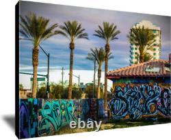 Las Vegas Graffiti Original Framed Wrapped Canvas Giclee Urban Art 24x36