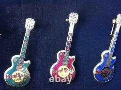 Las Vegas HARD ROCK CAFE Pins Collector Lot with Stainless Steel Frame & Rodeo Pin