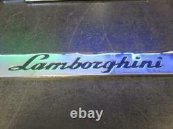 Las Vegas Lamborghini Chrome Black Logo Metal License Plate Frame Henderson Nv