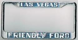 Las Vegas Nevada California Friendly Ford Vintage Dealer License Plate Frame