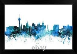 Las Vegas Nevada Skyline Black Framed Wall Art Print, Las Vegas Home Decor