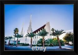 Las Vegas Nevada Temple, Blue Skies, Black Framed Wall Art Print, Las Vegas Home