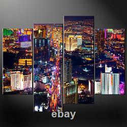 Las Vegas Night Cascade Canvas Print Modern Design Ready To Hang