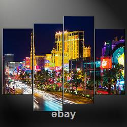 Las Vegas Quality Wall Art Cascade Canvas Print Picture Ready To Hang