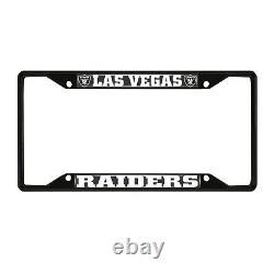 Las Vegas Raiders EZ View Black Metal License Plate Frame