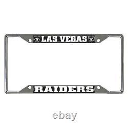 Las Vegas Raiders EZ View Chrome Metal License Plate Frame