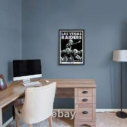 Las Vegas Raiders Framed Limited Edition 18 x 24 Holographic Foil Serigraph