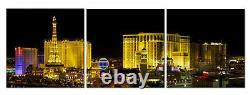 Las Vegas Strip Lights 3 Piece Canvas Wall Art Home Decor Framed Unframed