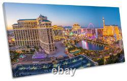Las Vegas Strip Skyline Nevada Print PANORAMIC CANVAS WALL ART Picture