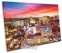 Las Vegas Strip Skyline Night Print SINGLE CANVAS WALL ART Picture