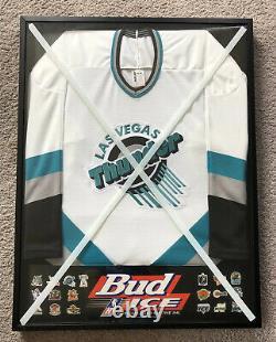 Las Vegas Thunder AHL Bud ICE Framed Hockey Jersey