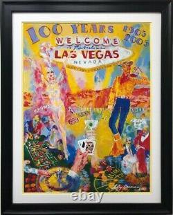 LeRoy Neiman 100 Years of Neon FRAMED New Art Las Vegas Nevado Casino Poker