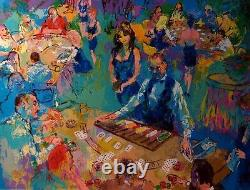 LeRoy Neiman HighStakes Blackjack Las Vegas HAND SIGNED limited edition # L@@K