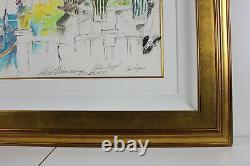 LeRoy Neiman Original Mixed Media Signed Golden Nugget Las Vegas Artwork Framed