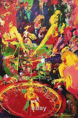 LeRoy Neiman Roulette 1972 Newly CUSTOM FRAMED Print Las Vegas Atlantic City