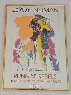 Leroy Neiman Runnin' Rebels University of Nevada Las Vegas Framed UNLV 1983