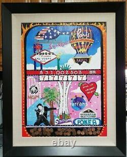 Linnea Pergola Viva Las Vegas Signed Original Acrylic on panel signed withcert