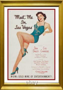 Meet Me in Las Vegas Original Movie Poster. Framed. 1956