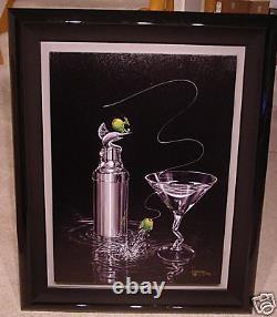 Michael Godard-MARLIN MARTINI-Olive-Deep Sea Fishing-Las Vegas-Fun-ArtFramed