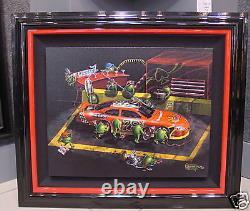 Michael Godard-NASBAR 500-Martini-NASCAR-Las Vegas-Martini-Racing-Art-FRAMED