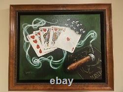 Michael Godard-ROYAL FLUSH-Las Vegas-Cigar-Gambling-Poker-Art