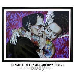Mr Las Vegas by Marcus Jones Elvis Presley Mugshot Tattoo Framed Fine Art Print