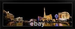 NV, Las Vegas. Panoramic view over the Black Framed Wall Art Print, Las Vegas