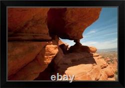 Nevada, Las Vegas, Red Rock Formation In Black Framed Wall Art Print, Desert