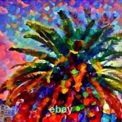 Nik Tod Original Painting Large Signed Art Textured Landscape Palms Las Vegas Uk