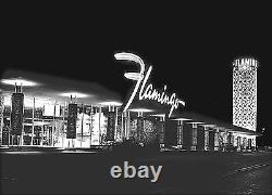 Old Las Vegas Flamingo 1956 The Strip Historical Photo -17x22 Art Print- 00175