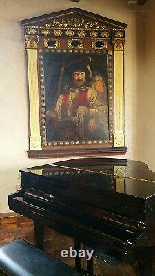 Original oil painting Pirate by Chris Hopkins Las Vegas Treasure Island hotel