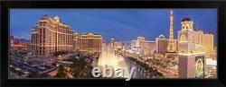 Panorama I Las Vegas Black Framed Wall Art Print, Las Vegas Home Decor