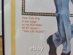 Professionally Framed Large Elvis Presley/Ann-Margaret Viva Las Vegas Poster