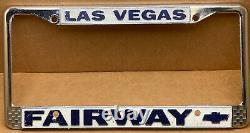 Rare Chevrolet Fairway (las Vegas Nv.) Car Dealer-license Plate Frame-vintage
