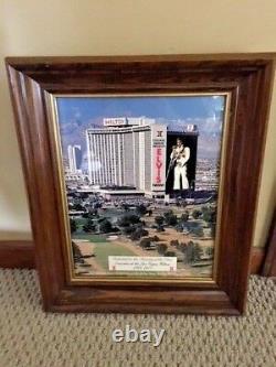 Rare Framed 11x14 Elvis Presley Photo Dedicated To Concerts In Las Vegas