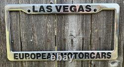 Rare Las Vegas European Motorcars Dealership License Plate Frame
