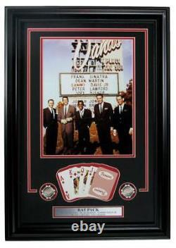 Rat Pack Las Vegas Sands Casino Framed Collage